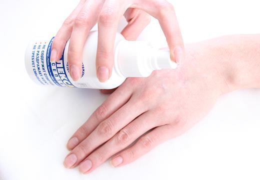 Обработка раны антисептиком