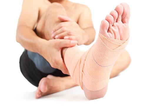 перемотанная нога